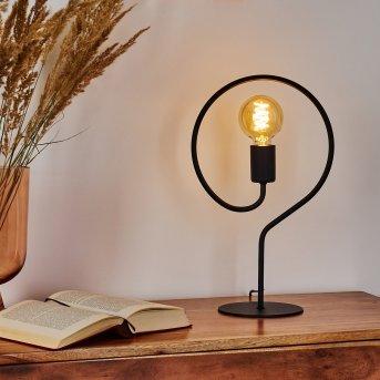 Lampe de table Mialo Noir, 1 lumière