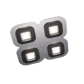 Plafonnier Grossmann AP LED Noir, Aluminium, 4 lumières