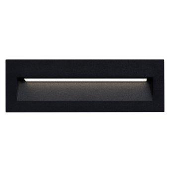 Applique murale d'extérieur KS Verlichting Slice LED Noir, 1 lumière
