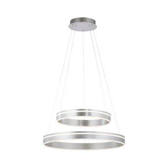 Suspension Paul Neuhaus Q-VITO LED Argenté, 2 lumières, Télécommandes