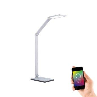 Lampe de table Paul Neuhaus Q-HANNES LED Argenté, 1 lumière, Télécommandes