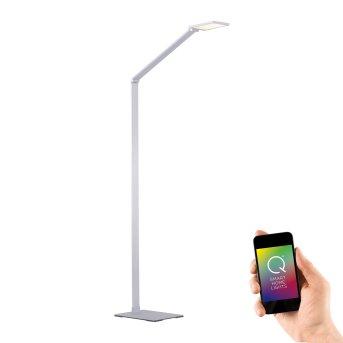 Lampadaire Paul Neuhaus Q-HANNES LED Argenté, 1 lumière, Télécommandes