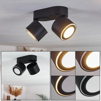 Plafonnier Appleton LED Noir, 1 lumière