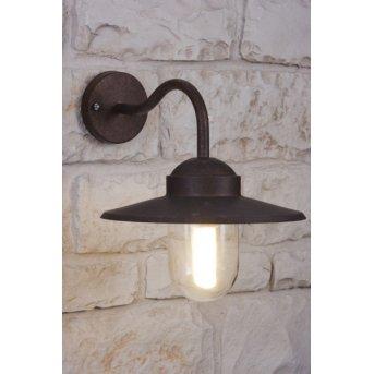 Applique Nordlux Luxembourg Rouille, Brun, Transparent, 1 lumière