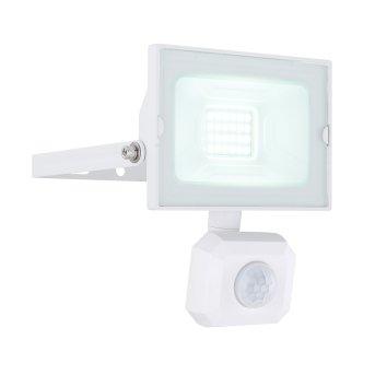 Spot de jardin Globo HELGA LED Blanc, 1 lumière, Détecteur de mouvement