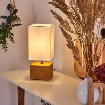 Lampe de table Geneva Bois clair, 1 lumière