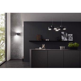 Plafonnier Grossmann ROCKS LED Noir, 5 lumières