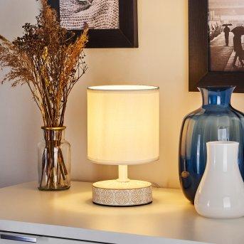 Lampe de table Kigombo Blanc, Crème, 1 lumière