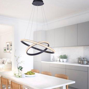 Suspension Leuchten-Direkt MUSA LED Noir, 2 lumières