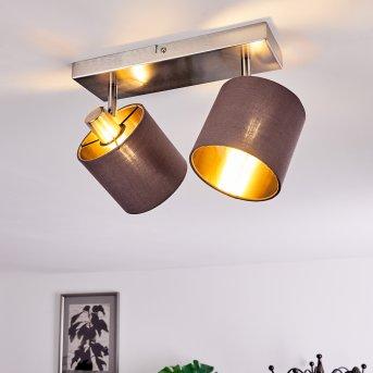 Plafonnier Alsen Nickel mat, 2 lumières
