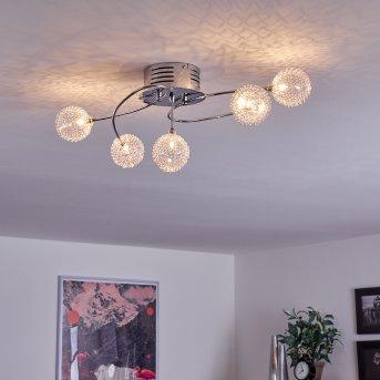 Plafonnier Tucurú LED Chrome, 5 lumières