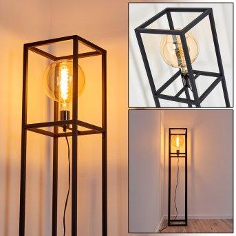 Lampadaire Flambeau Noir, 1 lumière