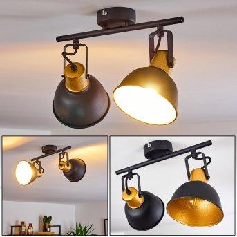 Plafonnier Blackburn Noir doré, 2 lumières