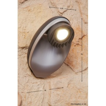 Applique extérieure LUTEC EGGO LED Anthracite, 3 lumières