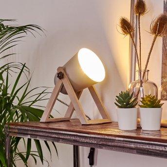 Lampe à poser Novilly Bois clair, 1 lumière