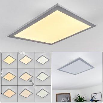 Plafonnier Farc LED Argenté, 1 lumière, Télécommandes