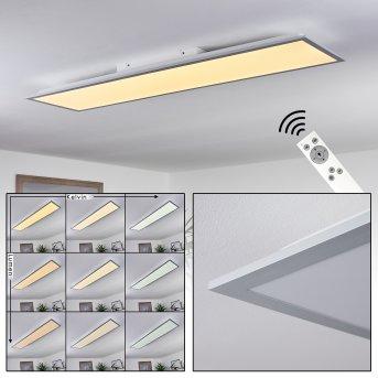 Plafonnier Nexo LED Blanc, 1 lumière, Télécommandes