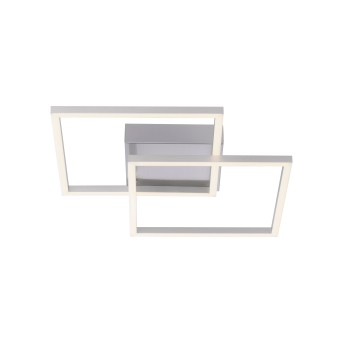Plafonnier Leuchten-Direkt IVEN LED Nickel mat, 2 lumières