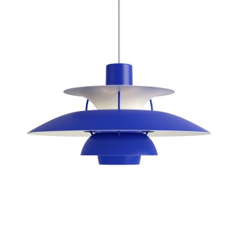 Suspension Louis Poulsen PH5 Blanc, Bleu, 1 lumière