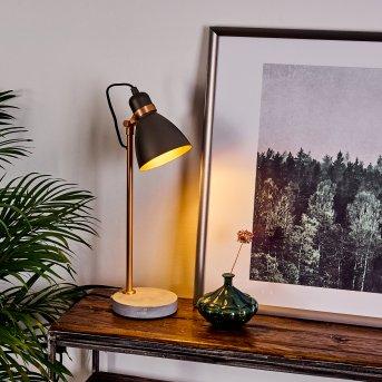 Lampe de table Guinzo Gris, Cuivre, 1 lumière