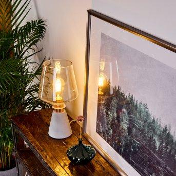 Lampe de table Jaen Gris, Cuivre, 1 lumière