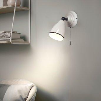 Applique murale Brilliant TELIO Gris, Blanc, 1 lumière