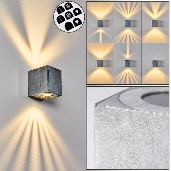 Applique murale d'extérieur Mora LED Nickel mat, 2 lumières