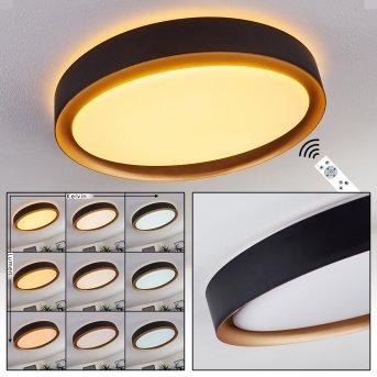 Plafonnier Beade LED Noir, Or, 1 lumière, Télécommandes