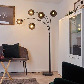 Lampadaire Mesas Anthracite, 5 lumières
