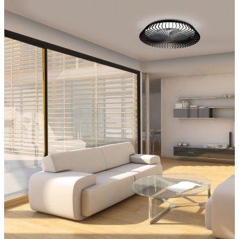 Ventilateur de plafond Mantra HIMALAYA LED Noir, 1 lumière, Télécommandes