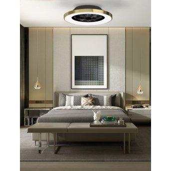 Ventilateur de plafond Mantra TIBET LED Blanc, 1 lumière, Télécommandes