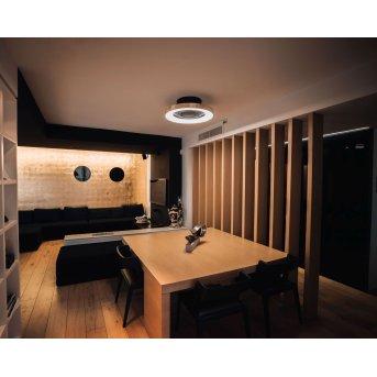 Ventilateur de plafond Mantra TIBET LED Noir, Or, 1 lumière, Télécommandes