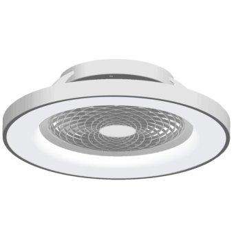 Ventilateur de plafond Mantra TIBET LED Argenté, 1 lumière, Télécommandes