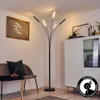 Lampadaire Totara LED Noir, 5 lumières