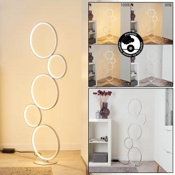 Lampadaire Rodekro LED Argenté, 1 lumière