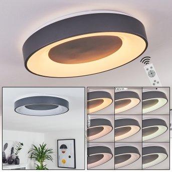 Plafonnier Casina LED Anthracite, Blanc, 1 lumière, Télécommandes