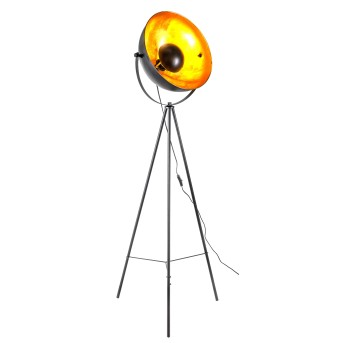 Lampadaire Nino-Leuchten Timo Noir, 1 lumière