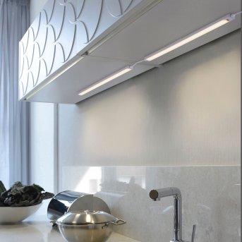 lampes pour bandeaux Paul Neuhaus AMON LED Argenté, 1 lumière, Détecteur de mouvement