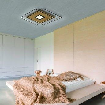 Plafonnier Paul Neuhaus Q-AMIRA LED Bois clair, 1 lumière, Télécommandes