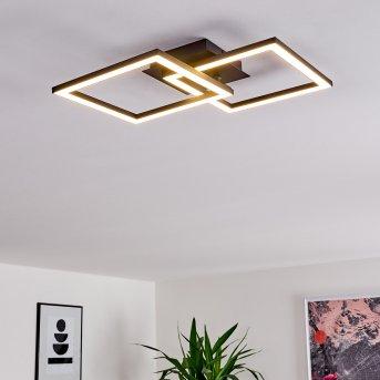 Plafonnier Thara LED Noir, 1 lumière