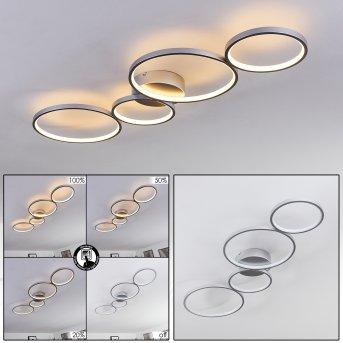 Plafonnier Rodekro LED Nickel mat, 4 lumières