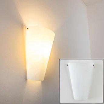 Applique murale Zera Aluminium, Blanc, 1 lumière