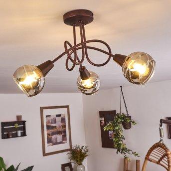 Plafonnier Warga LED Bronze, 3 lumières