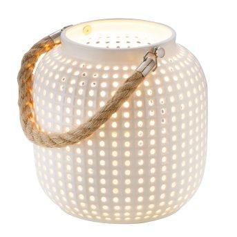 Lampe de table Nino-Leuchten BOLA Brun, Blanc, 1 lumière