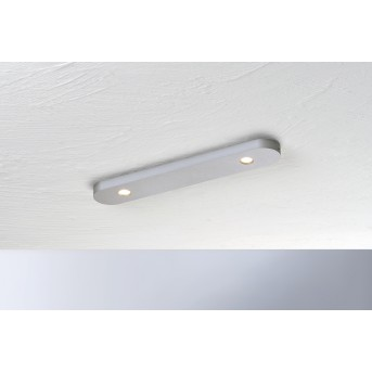 Plafonnier Bopp-Leuchten CLOSE LED Argenté, 2 lumières