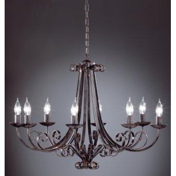 Lustre Honsel Pisa Noir, 8 lumières