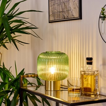 Lampe de table Paeni Or, 1 lumière