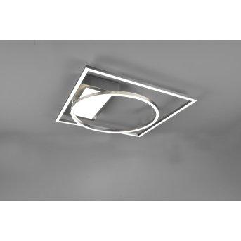 Plafonnier Trio Downey LED Nickel mat, 1 lumière, Télécommandes