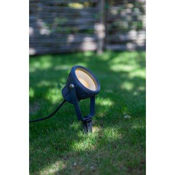 pique de terre Lutec MINI LETO LED Anthracite, 1 lumière, Changeur de couleurs