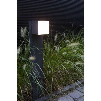 Borne lumineuse Lutec CUBA LED Anthracite, 1 lumière
